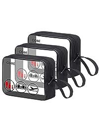 3 个 CGBE TSA 批准化妆包带手柄带透明洗漱包 适用于液体瓶/化妆品 3-1-1 旅行化妆包 3 夸脱尺寸 化妆袋 3 包