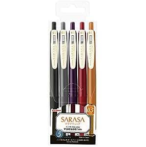 ZEBRA(斑马)中性圆珠笔 SARASA CLIP 0.5 复古 追加5色 JJ15-5C-VI2