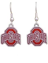 俄亥俄州立大学七叶树队彩虹标志银色耳环