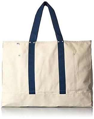 [ ヘリテージレザーカンパニー ] Heritage Leather co. Big Tote Bag  Natural/Navy