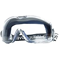 Uvex Stealth OTG Safety Goggles with Anti-Fog/Anti-Scratch Coating (S3970DF)
