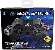Retro-Bit Official SEGA Saturn Bluetooth Control Pad 黑色 个人電腦/工作站