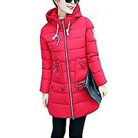 Acelyn 女式连帽冬季大衣大衣长羽绒服夹克外套