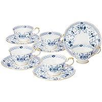 Narumi 鳴海 Milano系列 茶杯茶碟套裝 藍色 210cc(約210ml) 五組 茶 日本制 9682-21734