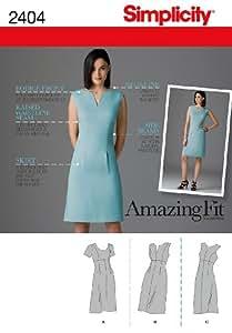 简约缝制图案2404女式礼服