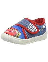 Cars 男童儿童魔术贴低腰袜上装拖鞋,蓝色(蓝色),39 码