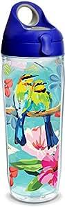 Tervis 海岸警卫队不锈钢保温杯,带蓝*盖 透明 24 oz Water Bottle 1316117