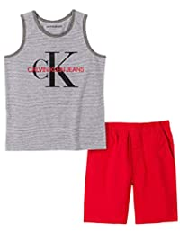 Calvin Klein 男孩背心短裤套装