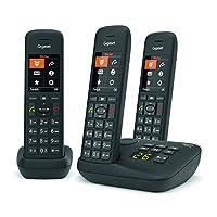 Gigaset C575A Trio DECT- 无绳电话,带电话答录机,方便电话 德国制造 - 带有大数字显示屏 彩色显示屏和轻易操作,黑色