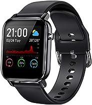 COULAX 智能手表,健身追踪器,1.4英寸(约1.4厘米)触摸屏,活动追踪器,带血氧监测器,带锁骨跟踪地图的步数计数器,带心率监测器的运动手表,男女皆宜
