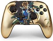 PowerA 增强型无线控制器,适用于 Nintendo Switch - 缎面镀铬链接