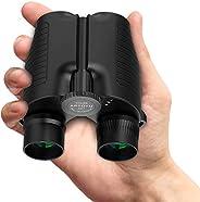 Aptoyu 带有微光夜视的紧凑型双筒望远镜,适合成人和儿童的大型目镜,高倍率易聚焦双筒望远镜,用于观鸟,户外狩猎,旅行,观光,生活防水