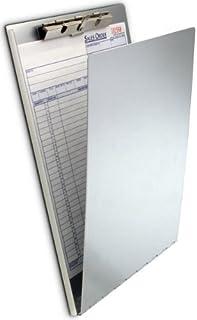 Saunders 30188 铝制夹板适用于 DIN A4,扁平齿夹,稳定的书写板,悬挂孔,圆形边角,银色