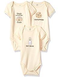 自然 touched 天然婴儿有机棉连身衣3个装