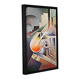 """ArtWall 1egg001a1624f Viking Eggeling's """"Composition"""" Gallery Wrapped Floater-Framed Art Canvas, 16"""" x 24"""""""