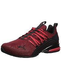 PUMA 男士 Axelion 运动鞋 高风险红-水泵黑色 9 M US