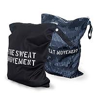 ALVES YOGA 2 件可水洗/可重复使用的湿袋,防水干湿健身袋,适用于泳衣或湿衣服