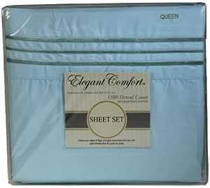 Elegant COMFORT ® 1500奢华100% 制造商超软4件套,袋深多30.48cm–防褶皱–所有尺码和颜色