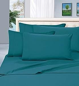 Elegant Comfort 1500 支抗皱不褪色埃及品质低*超柔奢华 4 件套床单套装和枕套 Turqouise 全部 COMIN16JU027492