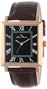 Lucien Piccard Men's LP-10501-RG-01-BRW Bianco Black Dial Brown Leather Watch