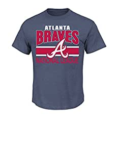 MLB Atlanta Braves Men's This Is My City Tee, Small, Navy Heather