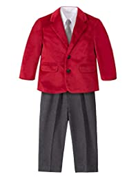 Nautica 男童西装套装,外套、裤子、衬衫和领带
