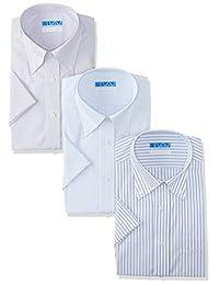 [礼服代码101] 【短袖 衬衫 3件 棉*】高形态稳定 男士 衬衫 形状* 免烫 穿着舒适
