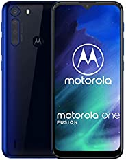 Motorola One Fusion 64GB XT2073-2,4GB RAM,48MP 摄像头,Qualcomm Snapdragon 710 LTE 工厂解锁智能手机 - 国际版XT2073-2
