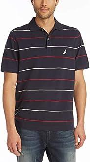 Nautica 諾帝卡 男式經典修身短袖 * 純棉珠地布條紋 Polo 衫