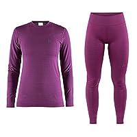 Craft 女士 红标贴身层舒适系列运动内衣贴身层套装 适合中低强度运动温度-5°C到-25°C跑步滑雪骑行户外 1906606-1906607
