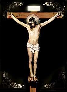 """耶稣基督十字架魔术贴 - 宗教墙艺术印刷海报 20x27"""""""