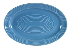 CAC China TG-13PCK Tango 11-3/4-Inch by 8-Inch Peacock Porcelain Oval Platter, Box of 12