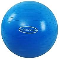 BalanceFrom 防爆防滑運動球瑜伽球健身球,帶快速泵,2,000 磅容量