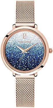 Pierre Lannier 女士模拟石英手表,实心不锈钢表带 108G968