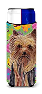 Yorkie Easter Eggtravaganza Michelob Ultra Koozies for slim cans SC9445MUK 多色 Slim