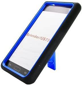 Aimo Wireless Guerilla Armor Hybrid Case with Kickstand for LG Splendor/Venice S730 - Non-Retail Packaging - Black/Blue