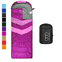 Gold Armour 睡袋 - 野营睡袋 轻便便携 防水、舒适的压缩袋 - 非常适合旅行、露营、徒步、户外活动 成人儿童