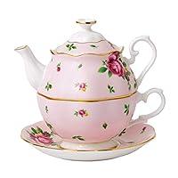 Royal Doulton 新乡玫瑰系列 茶杯茶壶各一件,一人份,0.49L