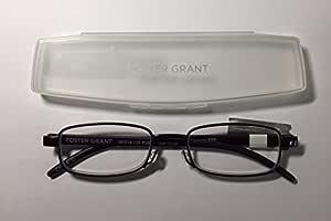 Foster Grant 平折阅读眼镜 Gabor 2.50 带透明外壳
