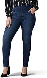 LEE 女士加大码修身修身直筒牛仔裤