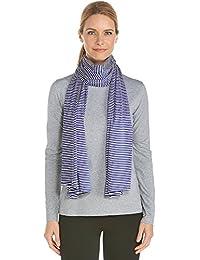 Coolibar 女式 UV 遮阳巾,蓝色,均码