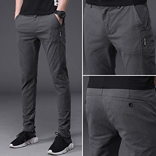 新しいメンズカジュアル明るい色のズボンの足スリム韓国人男性の潮2019春の綿のスポーツパンツ男性GSL-8807ライトグリーン、従来の28の