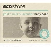 ECOSTORE 保湿婴儿肥皂,含山羊奶和薰衣草。