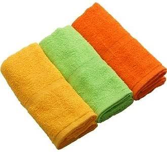 泉州毛巾 面巾 讲究 3个一组 约35×87cm 中草・ゴールド・柿 F06-10-12