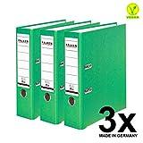 Falken PP 彩色塑料文件夹3件和5件装 3er Pack breit hellgrün