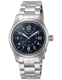 Hamilton Khaki Field Quartz H68201143 蓝色/银色不锈钢模拟石英男式手表