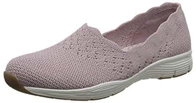 Skechers 斯凯奇 MODERN COMFORT系列 女 一脚蹬休闲鞋 49481-ROS 玫瑰红色 38 (US 8)