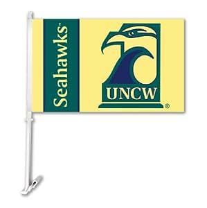 NCAA North Carolina Wilmington Car Flag with Free Wall Brackett