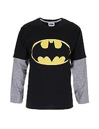 DC Comics 男童蝙蝠侠标志长袖上衣