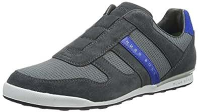 BOSS Green Arkansas_slon_mxpq 10191377 01, Men's Low-Top Sneakers Grey - Grau (Med Grey 030) 6 UK